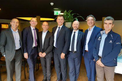 I membri del direttivo AMETI insieme a Stefano Rizzi